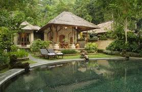 courtyard style house plans bali style house design gree grass courtyard garden idea pond