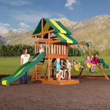 backyard discovery independence cedar swing set free delivery