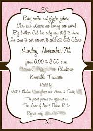 baby shower invite wording free ideas baby shower invite wording invitations templates