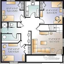 plan plain pied 5 chambres dé du plan de maison unifamiliale w3151