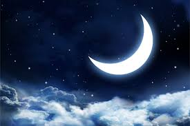 crescent moon and