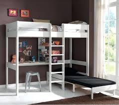 lit bureau pas cher lit mezzanine avec bureau pas cher ruben 90x200 blanc beraue
