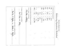 balancing equations worksheet template balancing equations