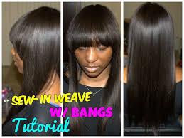 full sew in hairstyles gallery full sew in weave with bangs hair tutorial hair pinterest