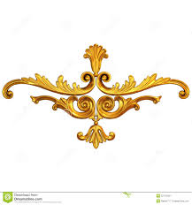 gold ornament stock photo image of carved copper molding 52710220