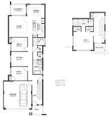 3 Bedroom 2 Story House Plans 2 Storey House Plans For Narrow Blocks Home Act