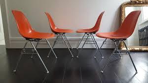 Eames Fiberglass Rocking Chair Vintage Dss Fiberglass Shell Chairs By Charles U0026 Ray Eames For
