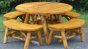 Cedar Patio Table Pa Rustic White Cedar Log Furniture Outdoor Indoor Log Furniture