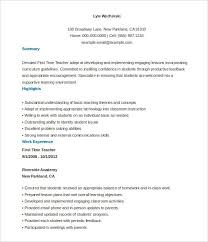 First Time Resume Samples by Free Resume Templates For Teachers Best Resume Collection