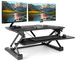 Adjustable Standing Sitting Desk Desk V001a Black Height Adjustable Standing Desk Single Touch Gas
