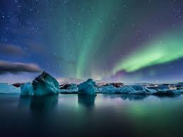 travel deals iceland northern lights northern lights glaciers ice photography vacation iceland