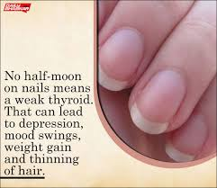 the half moon shape seen on nails tells about your health check
