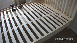 How To Build A Wood Platform Bed Frame by Diy Wooden Bed Frame Pine Youtube