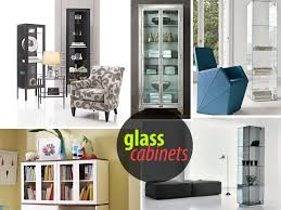 glass cabinets in kitchen glass cabinets for a chic display