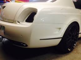bentley rear bentley flying spur project rear bumper modification bentley