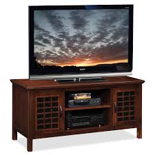 Wooden Tv Stands For Lcd Tvs Amazon Com Leick 81160 Chocolate And Black Glass Tv Stand 60