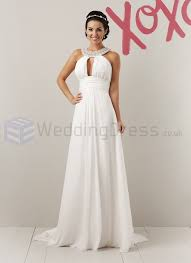 grecian wedding dresses chiffon a line beaded grecian collar neckline wedding dress