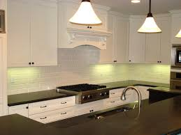 white brick kitchen backsplash