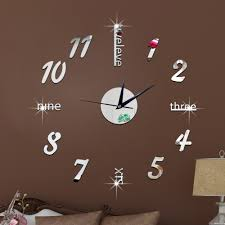 living room wall clock wall clock sticker u2013 spirylife a