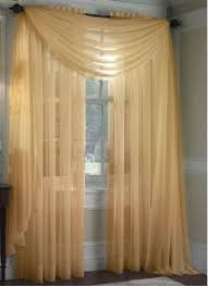 Valances And Curtains Amazon Com Monagifts Gold Scarf Voile Window Panel Solid Sheer