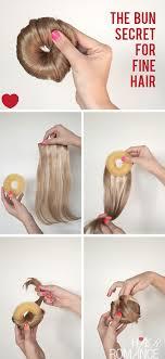 cool hair donut how to make the perfect hair donut for fine hair hair romance