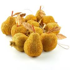 gold beaded fruit ornaments ornaments and