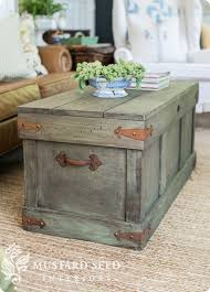 Knock Off Pottery Barn Furniture Trunk With Distressed Paint Finish