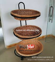 3 tier mobile retail grocery metal supermarket vegetable and fruit