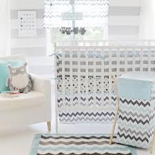 Gray And White Chevron Crib Bedding Chevron Baby Aqua Crib Set Interiordecorating
