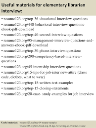 top 8 elementary librarian resume samples
