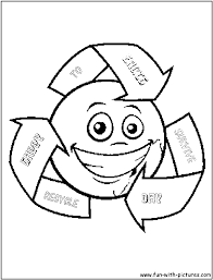 recycling coloring pages 18345