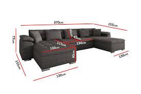 canapé reversible canapé panoramique convertible microfibre clea design