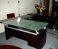 Wooden Center Table Glass Top Glass Office Table Design U2013 Ombitec Com
