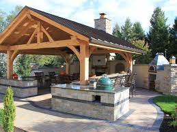 Outdoor Kitchen Countertops Ideas Outdoor Kitchen Countertops Options Design Landscaping Pictures
