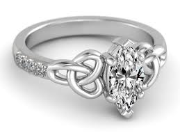 celtic knot ring engagement ring marquise diamond celtic knot engagement ring in