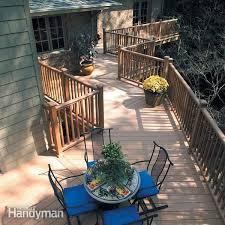 How To Build A Deck Handrail Deck Railing The Family Handyman