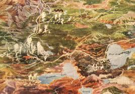 Yellowstone Park Map Yellowstone National Park Map 1910 U2014 Purple Moose Basics