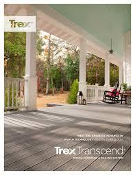 Trex Rocking Chairs Trex Transcend Porch Brochure Trex Inc Pdf Catalogues