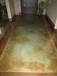 stained concrete floor one day in my master bath i tile