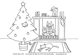 free christmas colouring pages u2013 doodlecats