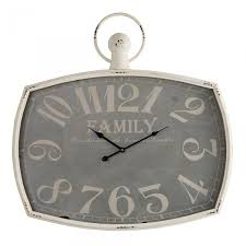 family wall clock by oak furniture land
