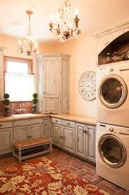 Laundry Room Base Cabinets Shallow Base Cabinets Laundry Room Farmhouse With Brass Chandelier