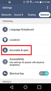 how to remove account from android how to remove an email account from lg device android