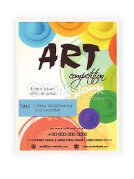 template brochure or flyer design for art competition vector art