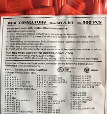 orange electrical wire connectors ul 500 pack desertcart