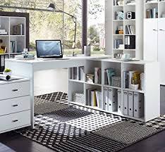matelpro bureau matelpro bureau d angle contemporain avec rangement coloris blanc
