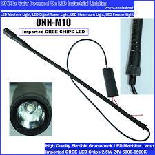 led gooseneck machine light 2 5w led gooseneck machine light fittings manget base spot light