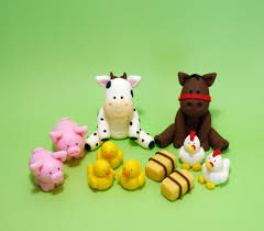 farm animals cake topper fondant farm animals baby shower