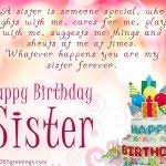 birthday cards for a sister on your birthday sis free brother