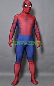 spiderman printed spandex lycra costume from civil war superhero